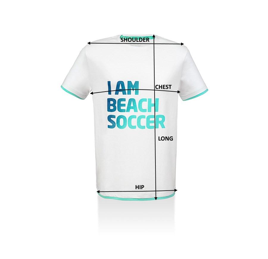 Men T-Shirt Beach Soccer