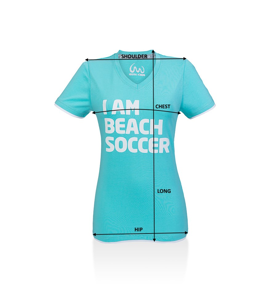 Women T-Shirt Beach Soccer